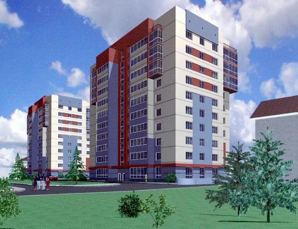 Жилая застройка на городке Щорса в г.Луганске