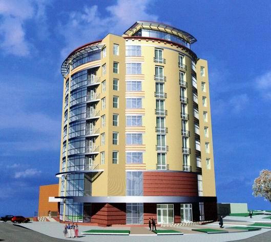 Многоквартирный жилой дом с магазином и подземным гаражом г.Луганск, ул.Алексеева,7